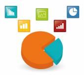 Unternehmen-Statistik-design. — Stockvektor
