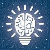 Human brain design. — Stock Vector