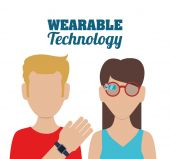 Wearable Technology design — Stock Vector