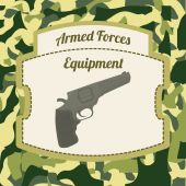 Military Armed Forces design — Stock Vector