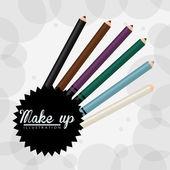 Make up design — Stock Vector