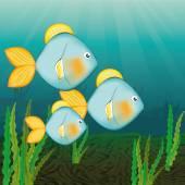Fish icon design — Stock Vector