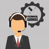 Technical service design — Stock Vector