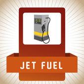 Gas Station design — Stock Vector