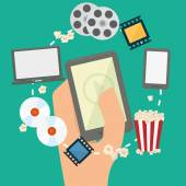 Movie digital design — Stock Vector