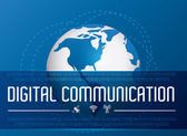 Digital communication design. — Stock Vector