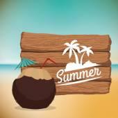 Summertime design — Stock Vector