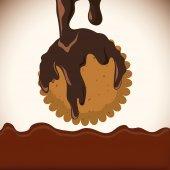 Chcolate design — Stock Vector