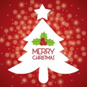 Merry christmas card design. — Stock Vector