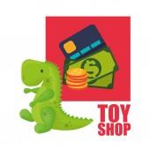 Speelgoed winkel ontwerp — Stockvector