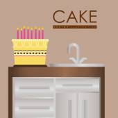 Projekt tort — Wektor stockowy