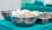 Swab surgical tools — Stock Photo