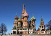 St. Basil's Cathedral on Red Square. — Stock Photo