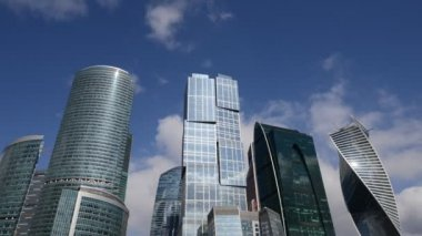 Business Center Moscow City. Time-Lapse. — Stock Video