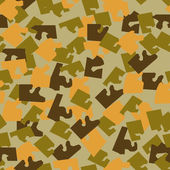Seamless military camouflage texture. — Stock Vector