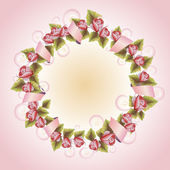 Vintage  wreath with flowers a Illustration for greeting cards, invitations, and other printing projects. — Stok fotoğraf