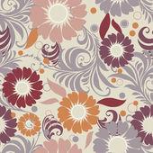 Seamless vintage floral — Vecteur