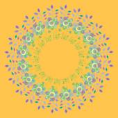 Round frame with decorative elements. Vector illustration. — Wektor stockowy
