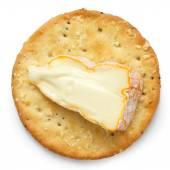 Round large cheese crackers. — Stock Photo