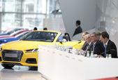 Audi Annual Press Conference 2015 — Stock Photo