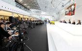 Audi výroční tiskové konference 2015 — Stock fotografie