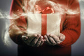Scatola regalo magico — Foto Stock