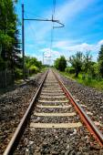 Railway oriented to infinity — Stock Photo