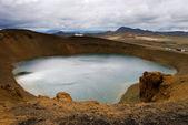 Crater lake Krafla — Stock Photo