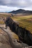 Karahnjukar dam - canyon of the river on Iceland — Foto de Stock