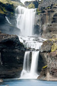 Ofaerufoss waterfall in Eldgja canyon — Stock Photo