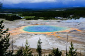 The Prismatic pool - eye in Yellowstone — Stock Photo