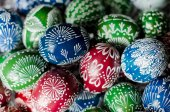 Easter - colorful eggs — 图库照片