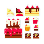 Cakes — Stock Vector