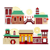 Chinese city — Stock Vector