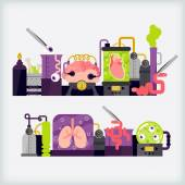Mad science — Stock Vector