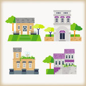 Set of buildings — Stock Vector