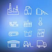 Промышленные символы установлены — Cтоковый вектор