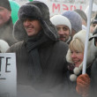 Opposition leaders Alexei Navalny and Evgenia Chirikova on the March for fair elections — Stock Photo #52993355