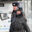 Russian police in winter — Stock Photo #54759465