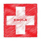 Ebola virus red cross medicine — Stock vektor