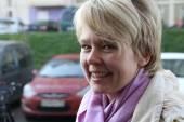 Candidate for mayor of Khimki opposition leader Yevgeniya Chirikova — Stock Photo