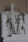 The statue of Lincoln Memorial in Washington, D.C. — Stock fotografie