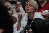 Emotional speech of the ecologist Evgenia Chirikova — Stock Photo