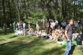 Civil society activists in Khimki forest — Stock Photo