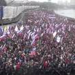 Funeral March of the opposition memory of the murdered politician Boris Nemtsov — Stock Video #66293945