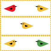 Colorful birds seamless natural background — Stock Vector