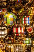 Arabic lamps at a bazaar in Marrakesh — Stock Photo