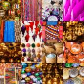 Collage of Moroccan craft products — Stock Photo