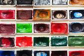 Watercolor bins — Stock Photo