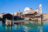 Historical gondola boatyard in Venice — Stock Photo
